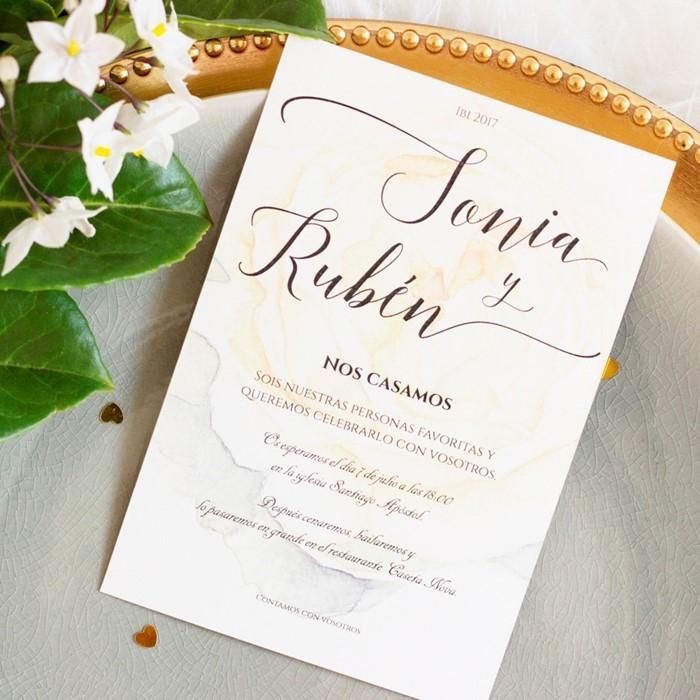 foto de invitacin de boda delicate