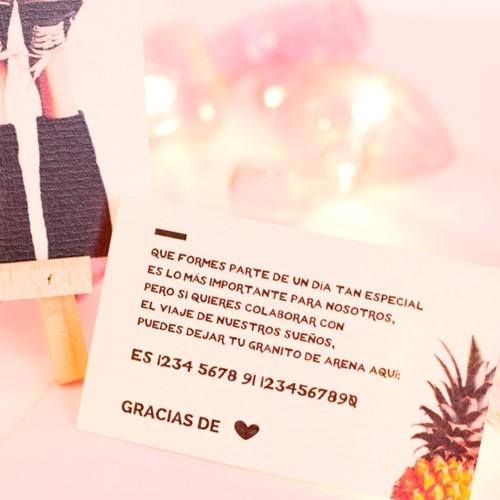 Foto de Invitación de boda BAMBA
