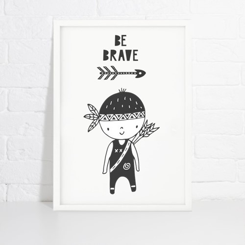 Foto de Lámina de decoración LITTLE BRAVE