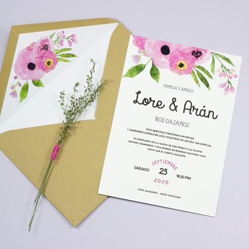 Foto de Invitación de boda VALERIA