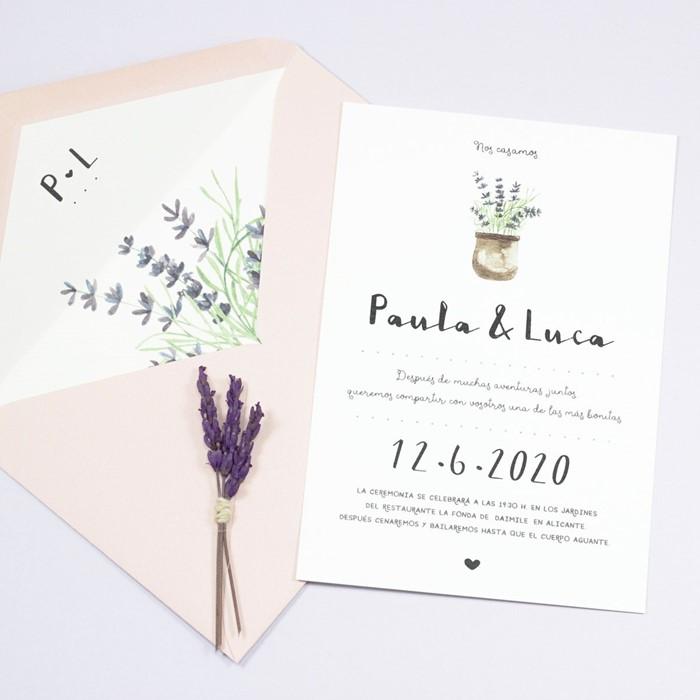 Foto de Invitación de boda LAVANDE