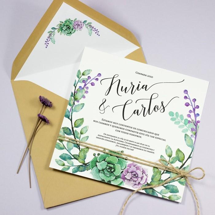 Foto de Invitación de boda MARIETTE