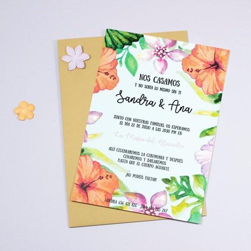 Foto de Invitación de boda BAHAMA MAMA