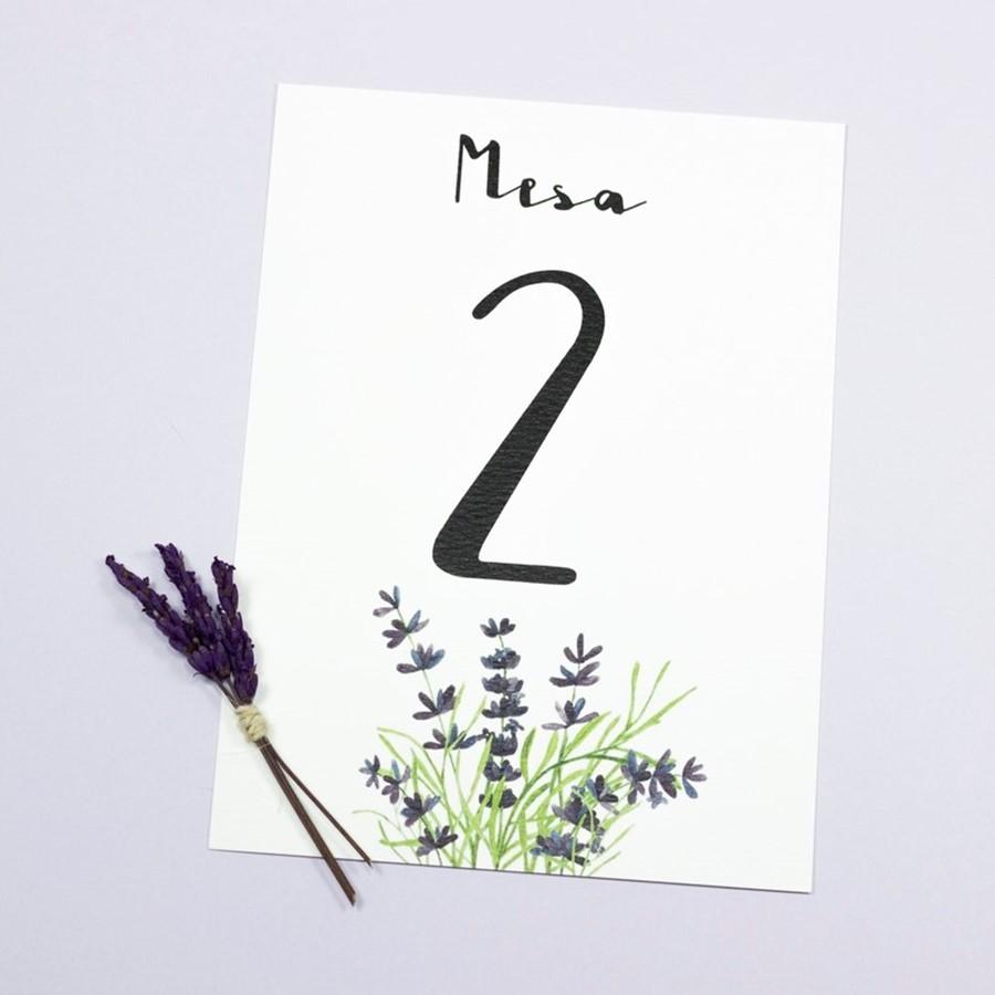 Cuadro para la categoría Número o nombre de mesa