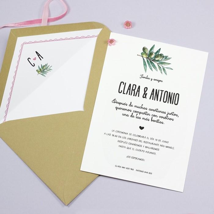 Foto de Invitación de boda COSETTE