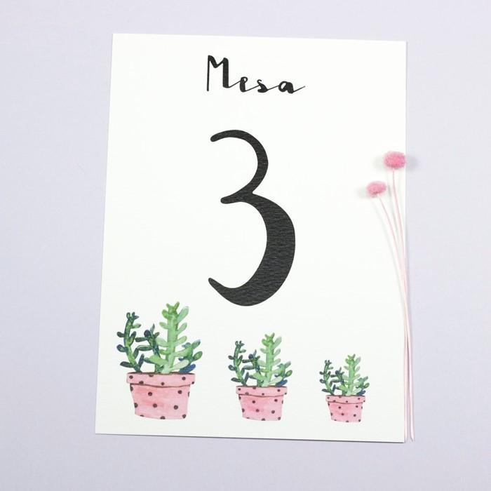 Foto de Número de mesa MINA