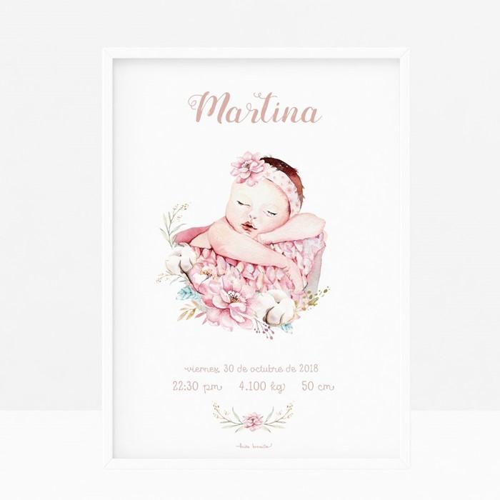 Foto de Lámina de nacimiento BABY CESTITA