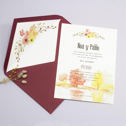Foto de Invitación de boda SELVA DE IRATI